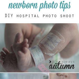 ảnh newborn trong bệnh viện.